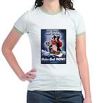 Don't Shiver Winter Poster Art Jr. Ringer T-Shirt