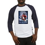 Don't Shiver Winter Poster (Front) Baseball Jersey