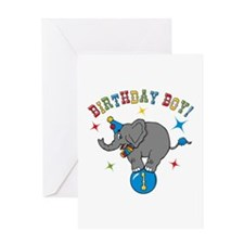 Circus Elelphant 1st Birthday Boy Greeting Card