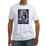 Don't Shiver Winter Poster (Front) Fitted T-Shirt