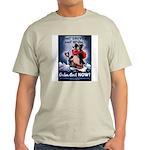 Don't Shiver Winter Poster Art Ash Grey T-Shirt