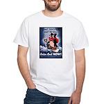 Don't Shiver Winter Poster Art White T-Shirt