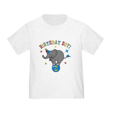 Circus Elephant 2nd Birthday Boy Toddler T-