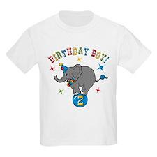 Circus Elephant 2nd Birthday Boy T-Shirt