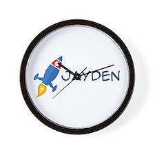Jayden Rocket Ship Wall Clock