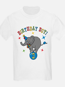 Circus Elelphant 3rd Birthday Boy T-Shirt