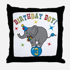 Circus Elelphant 3rd Birthday Boy Throw Pillow