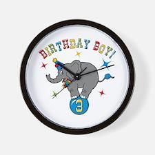 Circus Elelphant 3rd Birthday Boy Wall Clock
