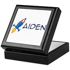 Aiden Rocket Ship Keepsake Box