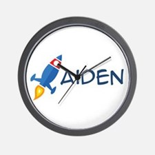 Aiden Rocket Ship Wall Clock