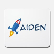 Aiden Rocket Ship Mousepad