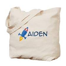 Aiden Rocket Ship Tote Bag