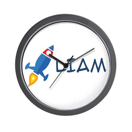 Liam Rocket Ship Wall Clock