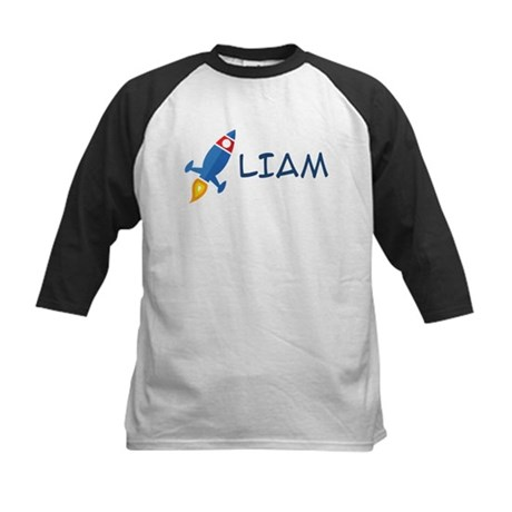 Liam Rocket Ship Kids Baseball Jersey