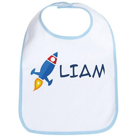 Liam Rocket Ship Bib
