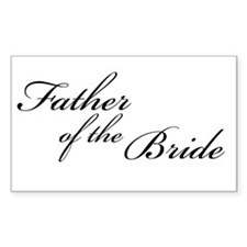Father of the Bride (FF) Rectangle Decal