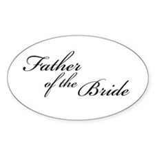 Father of the Bride (FF) Oval Decal