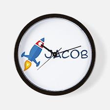 Jacob Rocket Ship Wall Clock