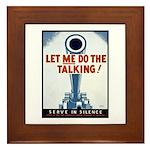 Big Guns Talk Poster Art Framed Tile