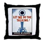 Big Guns Talk Poster Art Throw Pillow