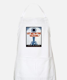 Big Guns Talk Poster Art BBQ Apron