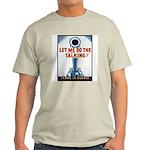 Big Guns Talk Poster (Front) Ash Grey T-Shirt