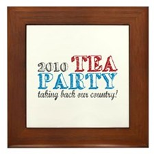 Tea Party 2010 Elections Framed Tile