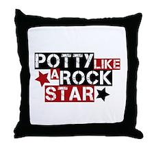 Potty Like A Rock Star Throw Pillow