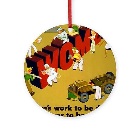 Women Power Now Poster Art Ornament (Round)