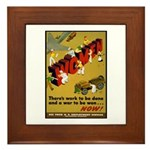 Women Power Now Poster Art Framed Tile