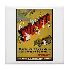 Women Power Now Poster Art Tile Coaster