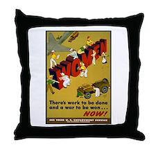 Women Power Now Poster Art Throw Pillow