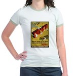 Women Power Now Poster (Front) Jr. Ringer T-Shirt