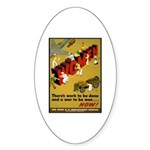 Women Power Now Poster Art Oval Sticker