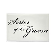 Sister of the Groom (FF) Rectangle Magnet