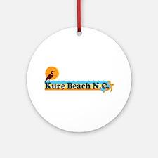 Kure Beach NC - Beach Design Ornament (Round)