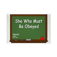 Teacher Chalkboard Rectangle Magnet (10 pack)