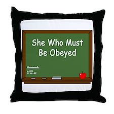 Teacher Chalkboard Throw Pillow
