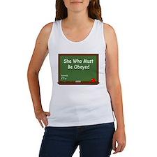 Teacher Chalkboard Women's Tank Top