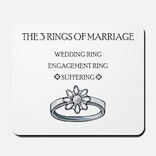 3 Rings of Marriage Wedding Gift Mousepad