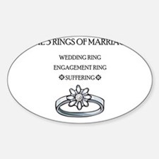 3 Rings of Marriage Wedding Gift Oval Decal