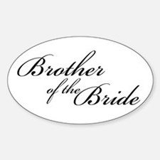 Brother of the Bride (FF) Oval Decal