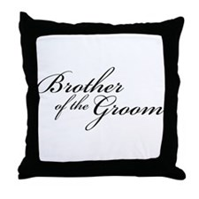 Brother of the Groom (FF) Throw Pillow