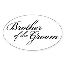Brother of the Groom (FF) Oval Decal