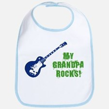 Rock On Grandpa! Bib