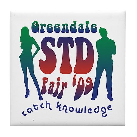 Greendale STD Fair Tile Coaster