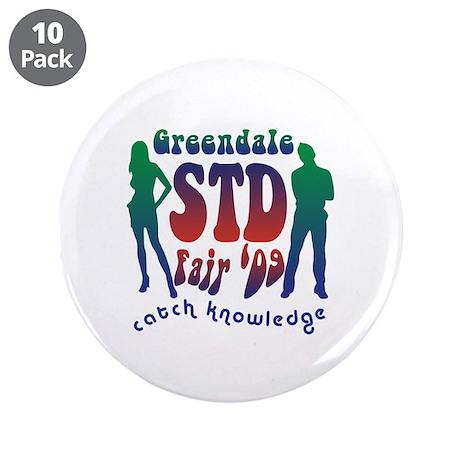 """Greendale STD Fair 3.5"""" Button (10 pack)"""