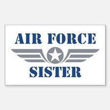 Air Force Sister Sticker (Rectangle)