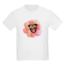 Pug Roses Kids T-Shirt
