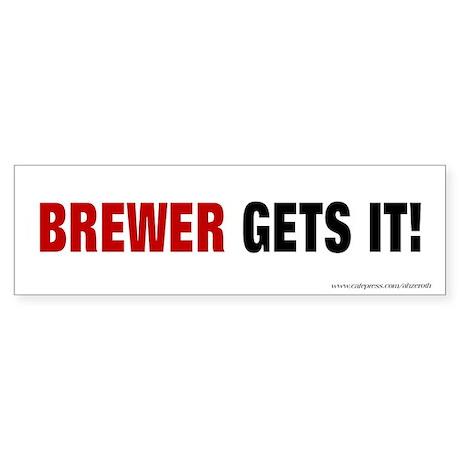 Brewer Gets It, Sticker (Bumper)